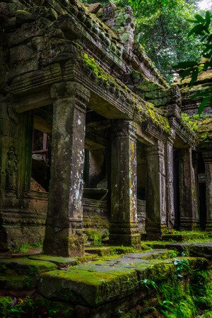khan: Among the ruins of Preah Khan in Siem Reap, Cambodia. Stock Photo