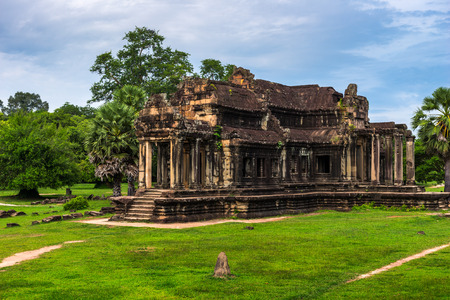 siem reap: Some of the ancient ruins among the Angkor Wat site in Siem Reap, Cambodia.