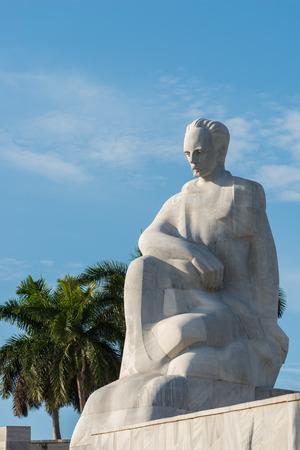 historical landmark: A statue of Jose Marti stands at the Plaza de la Revolucion in Havana, Cuba. Stock Photo