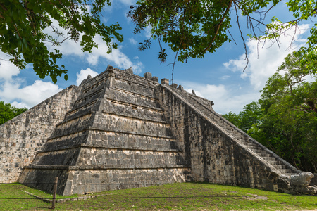 The ancient Mayan pyramids at Chichen Itza, Mexico.
