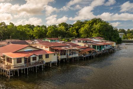 The river village of Kampong Ayer in Bandar Seri Begawan, Brunei Darussalam.