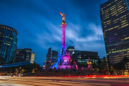 Anioł Niepodległości w Mexico City, Meksyk. Zdjęcie Seryjne