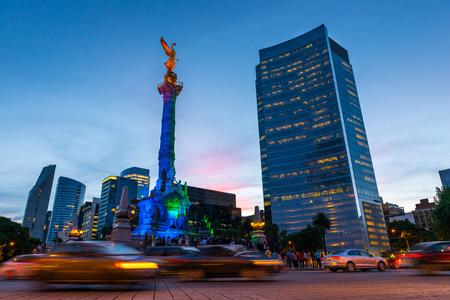 Der Engel der Unabhängigkeit in Mexiko-Stadt, Mexiko. Standard-Bild