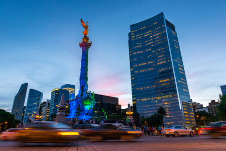 The Angel of Independence in Mexico City, Mexico.