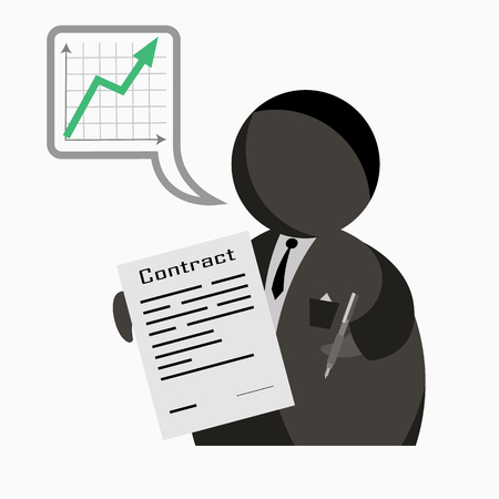sign contract Stock Illustratie