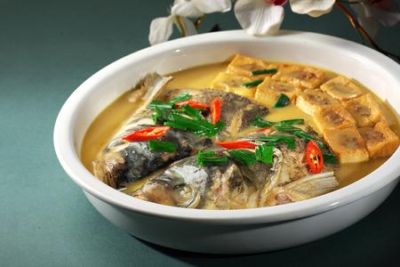 fish head: Braised fish head cuisine