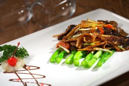 sea cucumber: Fried sea cucumber
