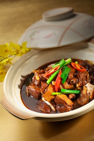 cuisines: stew Braised duck Stock Photo