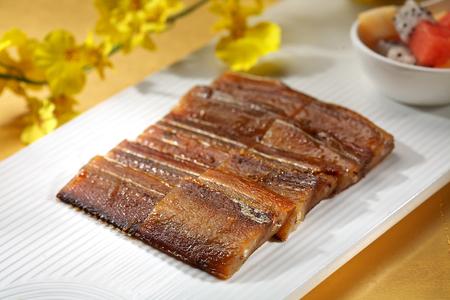 dish fish: Asian Grill plato de pescado Foto de archivo