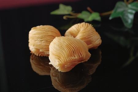 petoncle: scallop radish puff ball Banque d'images