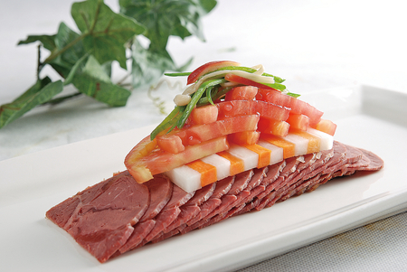 spiced: Spiced Beef sliced Stock Photo