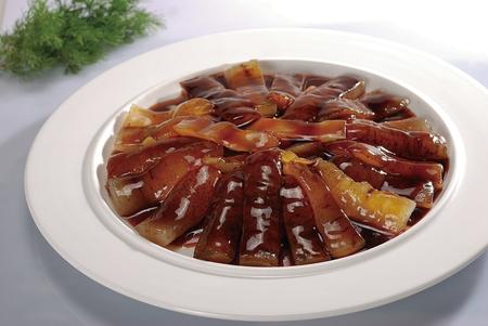 sea cucumber: roasted black sea cucumber with onion