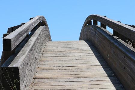 wooden bridge: Curved Wooden Bridge