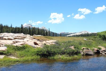 sierras: Tuolumne Meadows Landscape Stock Photo