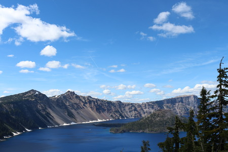 crater lake: Crater Lake And Wizard Island