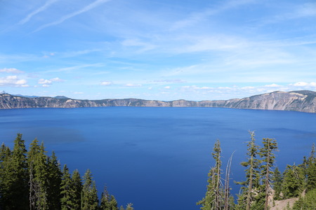 crater lake: Deep Blue Crater Lake