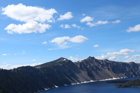 crater lake: Clouds Above Crater Lake