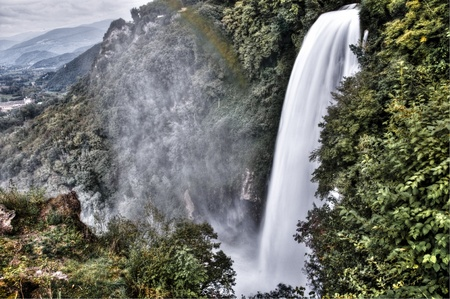 waterfalls in deep forest photo