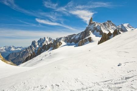 blanc: Mont Blanc massif. panorama of the Italian Alps