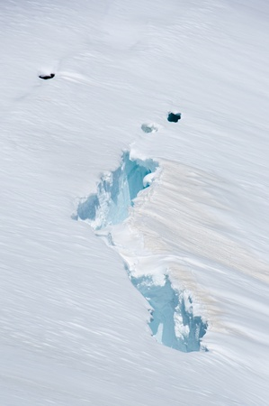 crevasse: Broken ice on sunny day,concept of climate change. Stock Photo