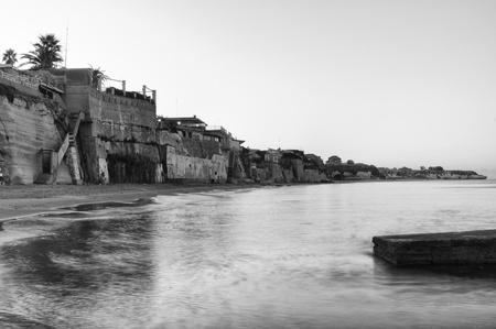 イタリアの海岸のパノラマ ビュ...
