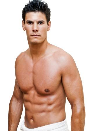 nudo maschile: modello fotografati in studio, a torso nudo