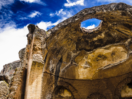 emperors: Ancient ruins of Villa Adriana, residence of the emperors of Rome. Stock Photo