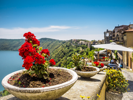 summer residence: Castel Gandolfo is the summer residence and vacation retreat for the pope, the leader of the Catholic Church. Stock Photo
