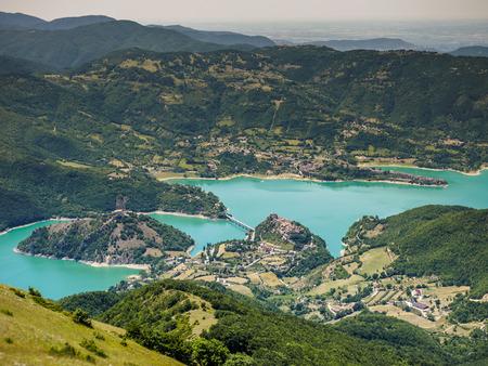 rieti: Lago del Turano is a lake in Province of Rieti, Lazio, Italy.
