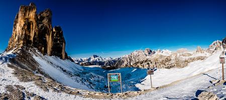 Dolomites. panorama of the Italian Alps Stock Photo
