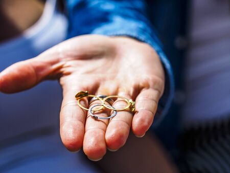 typical wedding ring of the Sardinian tradition, Italy.