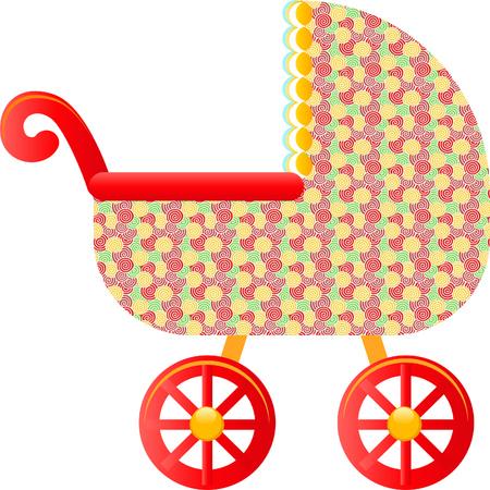 perambulator: Carrozzina per bambini Vettoriali
