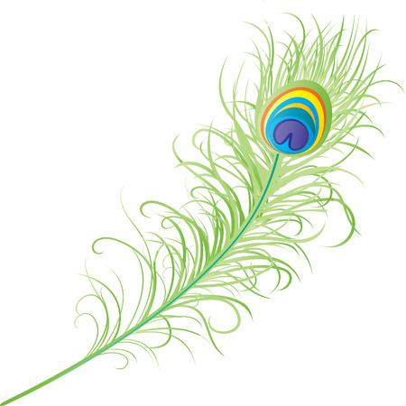 krishna: Veer van de pauw Stock Illustratie