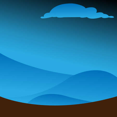 winter solstice: Depth of winter in to dark alps Illustration