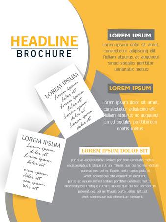 professional business template design Illusztráció