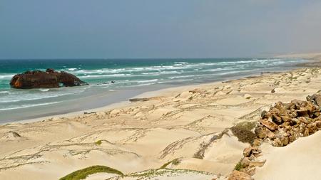 wrecked: Cabo Santa Maria, Wrecked ship on the beach, Boa Vista, Cape Verde