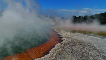 waters: Waiotapu colorful waters, Rotorua, New Zealand Stock Photo
