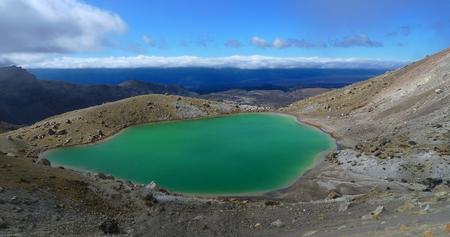 Ngarotopounamu Emerald Lake, Tongariro National Park, New Zealand