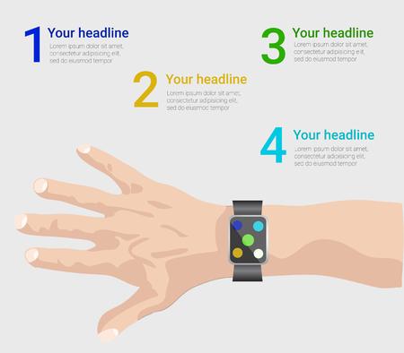 smart: smart watch infographic