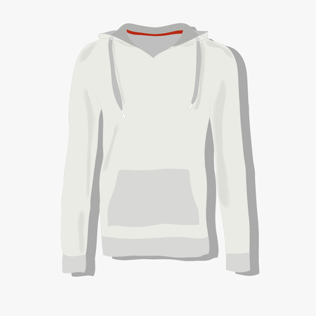 hoody: realistically painted hoody, beautiful hoody in flat style