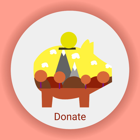 Donations: donations for the preservation of nature, icon
