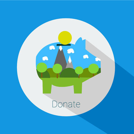 preservation: donations for the preservation of nature, icon