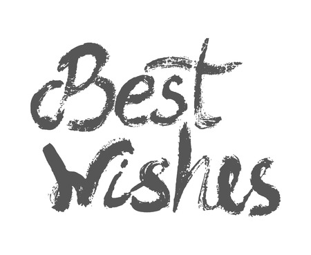 mindful: Best wishes - perfect design element for housewarming poster, t-shirt design. Handdrawn lettering. Vector art.