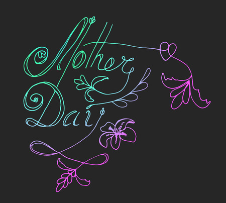 mindful: Mother day - perfect design element for housewarming poster, t-shirt design. Handdrawn lettering. Vector art. Illustration