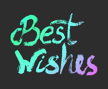 I migliori auguri - elemento di design perfetto per Housewarming poster design, t-shirt. lettering strappo. Vector art. Vettoriali