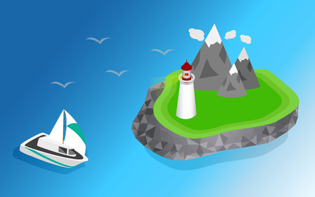 navigational light: Light house, Lighthouse Icon building Lighthouse maritime, Lighthouse navigational guidance, Lighthouse Image Lighthouse isometric Lighthouse Sign Lighthouse Flat Lighthouse design, Lighthouse sea. ships sailing to the lighthouse Illustration