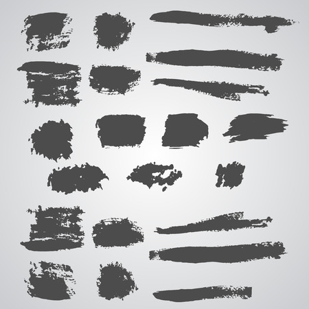broad: Vector set of grunge  broad brush strokes. Black collection of black vector oil paint brush strokes isolated on white background. Paint brush strokes.