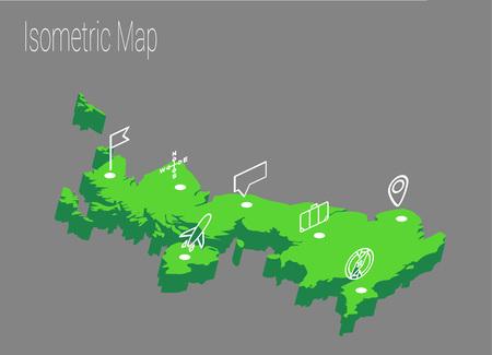 high speed internet: Map United Kingdoml isometric concept. 3d flat illustration of Map United Kingdom.