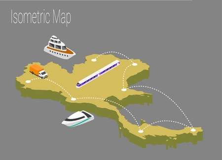 high speed internet: Map Thailand isometric concept. 3d flat illustration of Map Thailand.