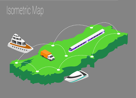Map Turkey isometric concept. 3d flat illustration of Map Turkey Illustration
